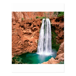 Waterfall Havasupai Mooni Grand Canyon Arizona Postcard