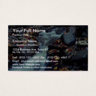 Waterfall in autumn, near Capelton, Estrie, Quebec Business Card