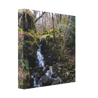 Waterfall in Brecon beacons national park, Wales Gallery Wrapped Canvas