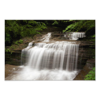 Waterfall in Buttermilk Falls State Park, New York Photo Print