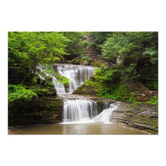 Waterfall in Buttermilk Falls State Park New York Photo Print