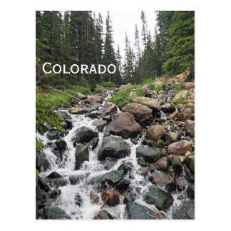 waterfall in Colorado mountains Postcard
