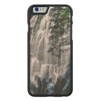 Waterfall in forest, Oregon Carved Maple iPhone 6 Case