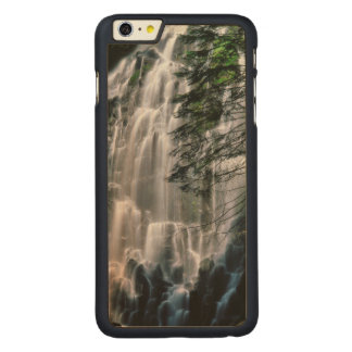 Waterfall in forest, Oregon Carved Maple iPhone 6 Plus Case