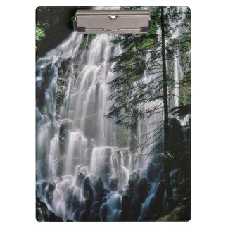 Waterfall in forest, Oregon Clipboard