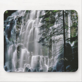 Waterfall in forest, Oregon Mouse Pad