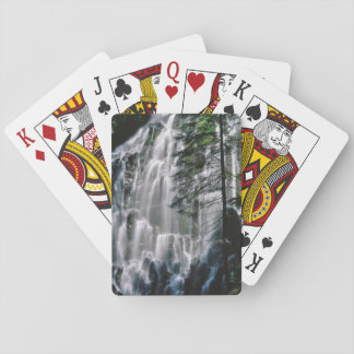 Waterfall in forest, Oregon Playing Cards