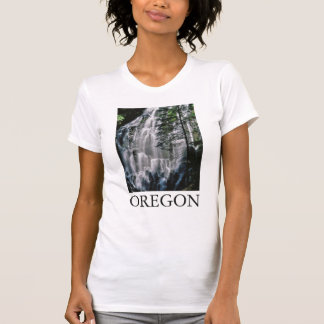 Waterfall in forest, Oregon T-Shirt