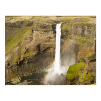 Waterfall in Iceland Postcard