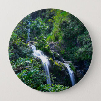 Waterfall in Maui Hawaii 4 Inch Round Button