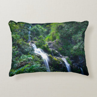 Waterfall in Maui Hawaii Accent Pillow