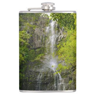 Waterfall in Maui Hawaii Flask
