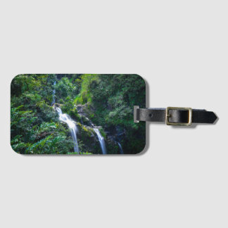 Waterfall in Maui Hawaii Luggage Tag
