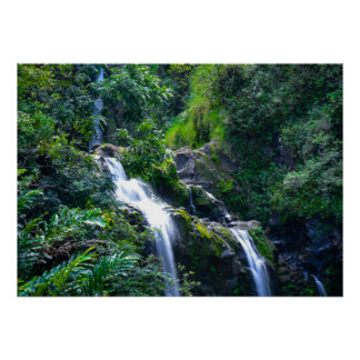 Waterfall in Maui Hawaii Poster