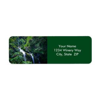 Waterfall in Maui Hawaii Return Address Label