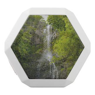 Waterfall in Maui Hawaii White Bluetooth Speaker