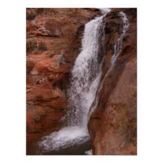 Waterfall in Moab area Poster