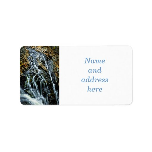 Waterfall in Northern Ontario, Canada Labels