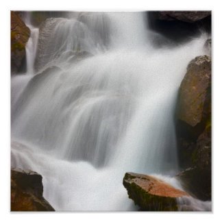 Waterfall in Norway Poster
