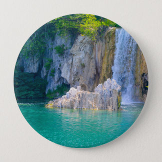 Waterfall in Plitvice National Park in Croatia 4 Inch Round Button