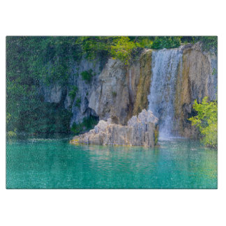 Waterfall in Plitvice National Park in Croatia Cutting Board