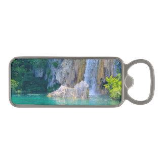 Waterfall in Plitvice National Park in Croatia Magnetic Bottle Opener