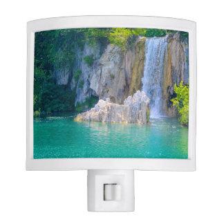 Waterfall in Plitvice National Park in Croatia Night Lites