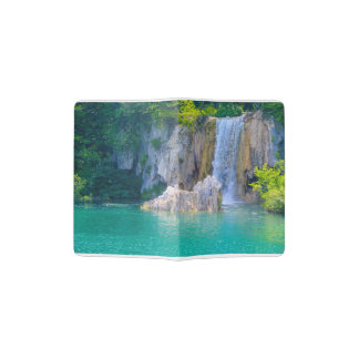 Waterfall in Plitvice National Park in Croatia Passport Holder