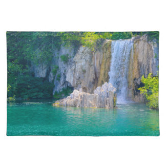 Waterfall in Plitvice National Park in Croatia Placemat