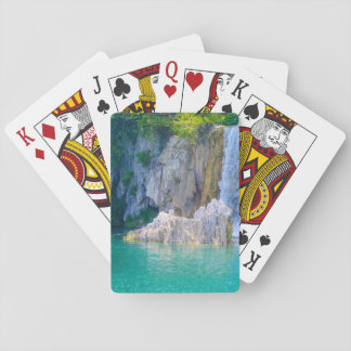 Waterfall in Plitvice National Park in Croatia Poker Deck