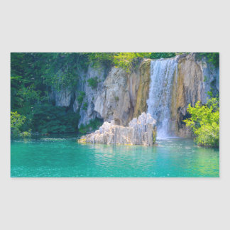 Waterfall in Plitvice National Park in Croatia Sticker