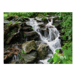 Waterfall in smokey Mountains 2 Poster