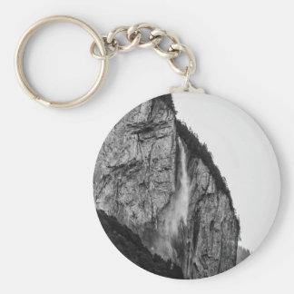 waterfall in Switzerland Basic Round Button Keychain