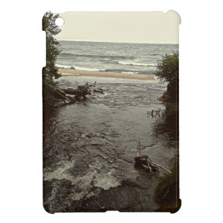 Waterfall in the beach iPad mini case