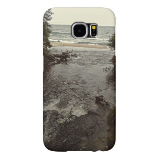 Waterfall in the beach samsung galaxy s6 cases