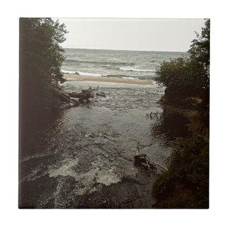 Waterfall in the beach tile