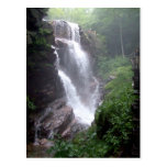 Waterfall In The Forest With Rocks Postcard