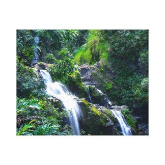 Waterfall in Tropical Maui Hawaii Canvas Print