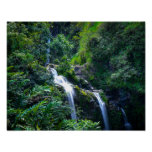 Waterfall in Tropical Maui Hawaii Poster