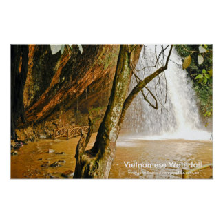 Waterfall in Vietnam, Vietnamese Waterfall, www... Poster
