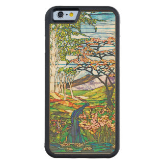 Waterfall Iris Birch Tiffany Stained Glass Window Carved Maple iPhone 6 Bumper Case