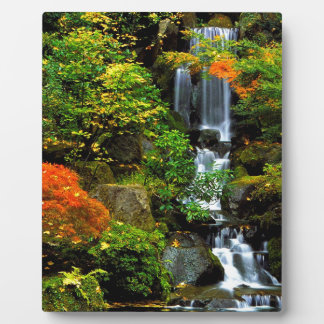 Waterfall Japanese Garden Portland Plaque