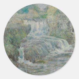 Waterfall - John Henry Twachtman Classic Round Sticker