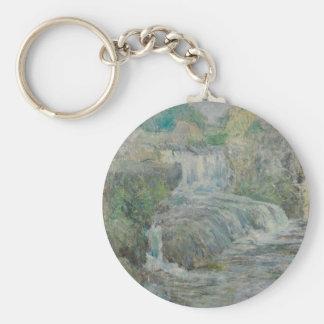 Waterfall - John Henry Twachtman Keychain