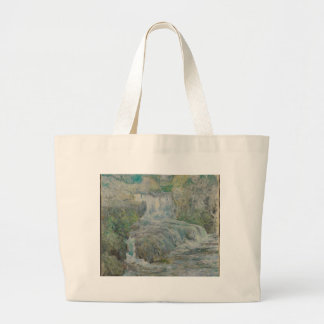 Waterfall - John Henry Twachtman Large Tote Bag