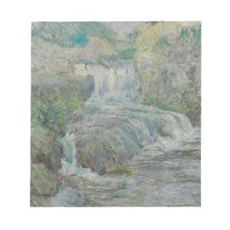 Waterfall - John Henry Twachtman Notepad