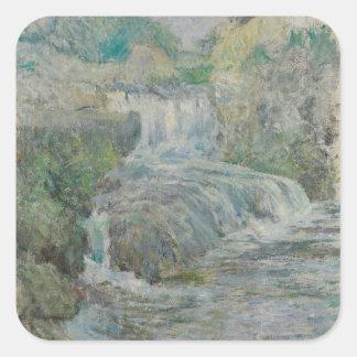 Waterfall - John Henry Twachtman Square Sticker
