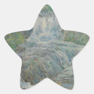 Waterfall - John Henry Twachtman Star Sticker