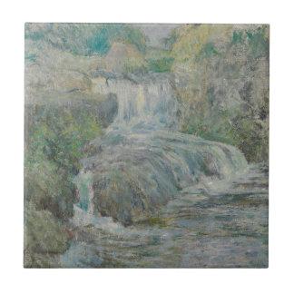Waterfall - John Henry Twachtman Tile