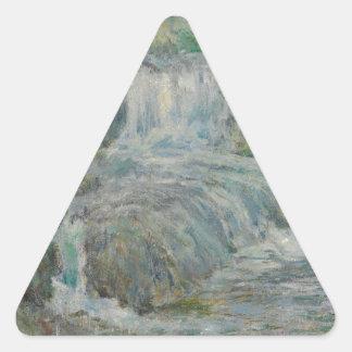 Waterfall - John Henry Twachtman Triangle Sticker